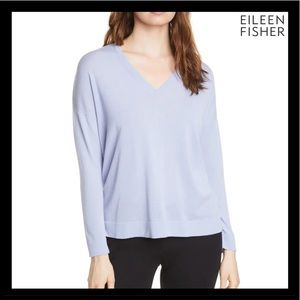 NEW EILEEN FISHER V-NECK TUNIC SWEATER